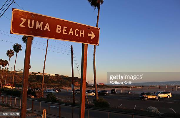 An exterior view of Zuma Beach on Pacific Coast Highway in Malibu on August 29 2015 in Los Angeles California