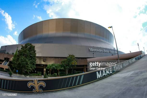 An exterior view prior to the game between the New Orleans Saints and the Green Bay Packers at Mercedes-Benz Superdome on September 27, 2020 in New...