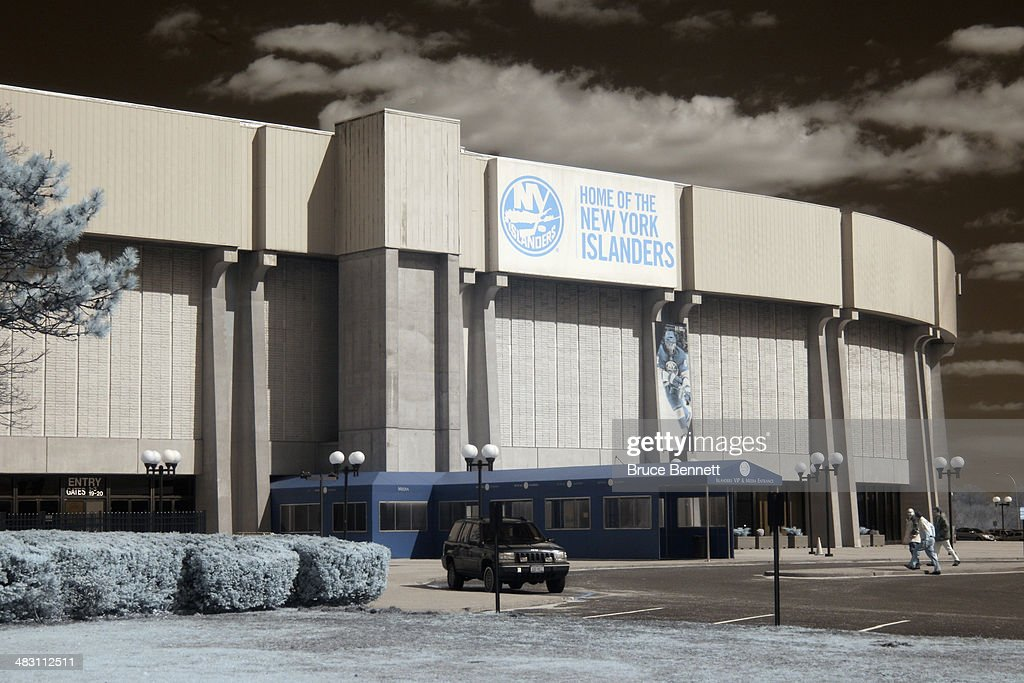An exterior view prior to the game between the New York Islanders and the Washington Capitals at the Nassau Veterans Memorial Coliseum on April 5, 2014 in Uniondale, New York. The Capitals defeated the Islanders 4-3 in the shootout.