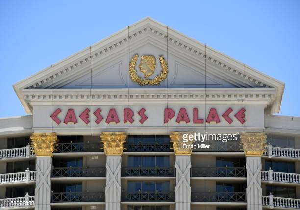 An exterior view shows Caesars Palace on the Las Vegas Strip on June 24, 2019 in Las Vegas, Nevada. Eldorado Resorts announced today that it would...