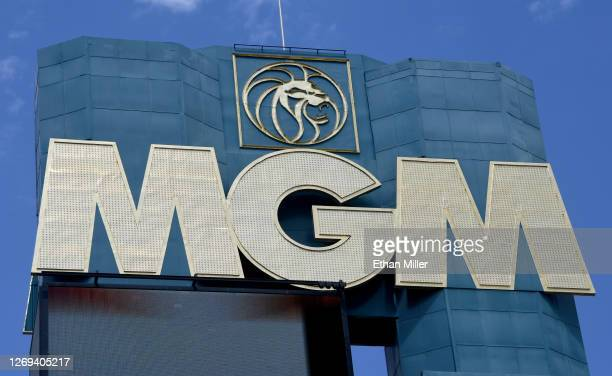 An exterior view shows the marquee at MGM Grand Hotel & Casino on the Las Vegas Strip amid the spread of coronavirus on August 28, 2020 in Las Vegas,...