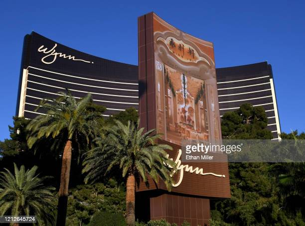 An exterior view shows Wynn Las Vegas as the coronavirus continues to spread across the United States on March 15, 2020 in Las Vegas, Nevada. Wynn...