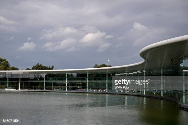 An external view of The McLaren Technology Centre during Prince William Duke of Cambridge's visit to McLaren Automotive on September 12 2017 in...