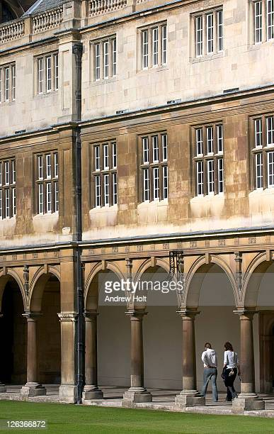 An external view of Trinity College, Cambridge. Trinity College is a constituent college of the University of Cambridge in Cambridge, England. Trinity is larger than any other college in Cambridge or Oxford. Most of the college's major buildings date fro