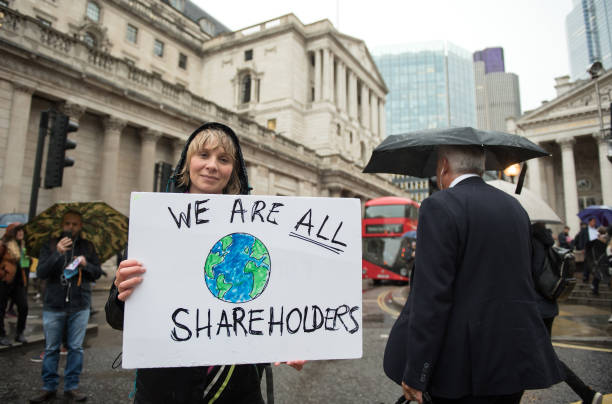 GBR: Extinction Rebellion Protest At The Bank Of England