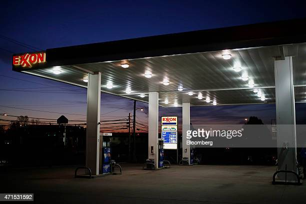 An Exxon Mobil Corp gas station stands in Richmond Kentucky US on Wednesday April 29 2015 Exxon Mobil Corp is scheduled to release earnings data on...