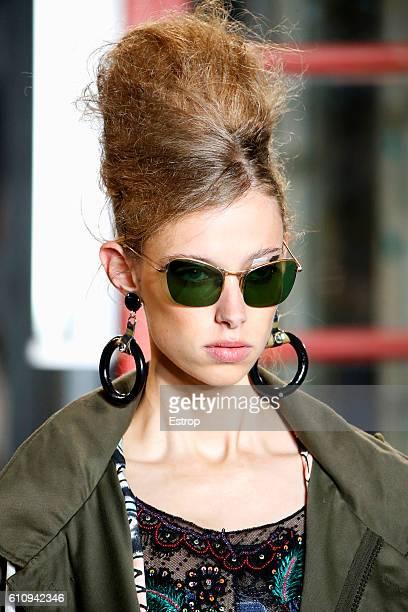 An Eyewear detail at the Antonio Marras show Milan Fashion Week Spring/Summer 2017 on September 24 2016 in Milan Italy