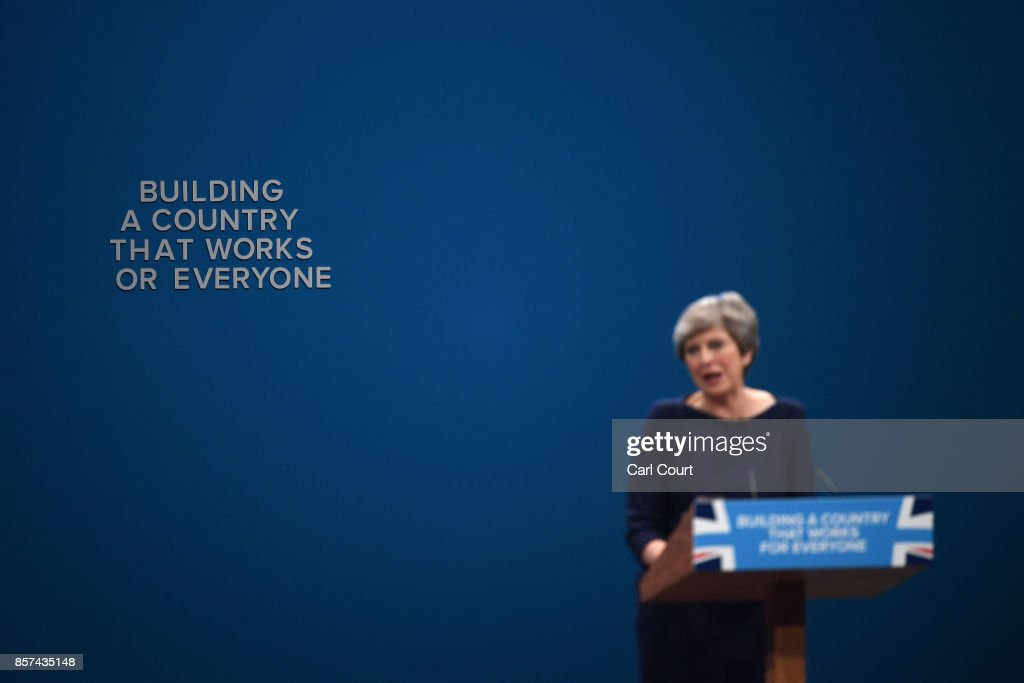 Conservative Leader Makes Her Keynote Speech To Party Conference : News Photo