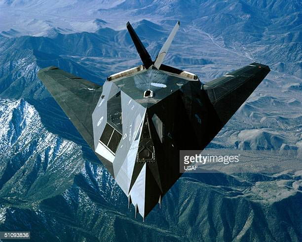 An F117 Nighthawk Flies Over The Sierra Nevada Mountain Range March 27 2002 Near Edwards Air Force Base Ca The Demonstration Project Is Designed To...