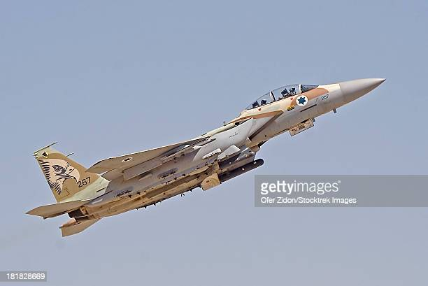 an f-15i ra'am of the israeli air force takes off from hatzerim air force base, israel. - israel stock pictures, royalty-free photos & images