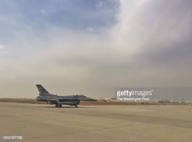 An F16 from the 455th Air Expeditionary Wing stands at Bagram Air Field about 25 miles north of Kabul Afghanistan on Jan 9 2017