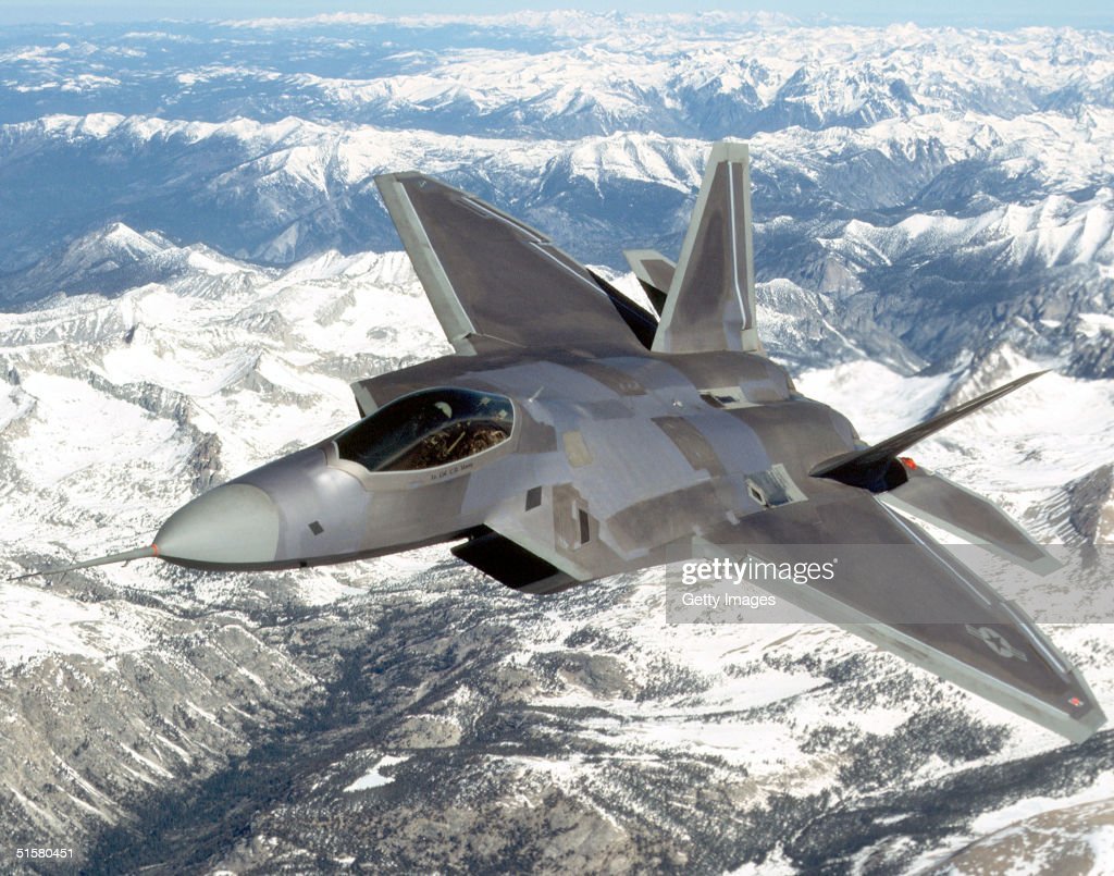 Air Force Launches F-22 Raptor : News Photo