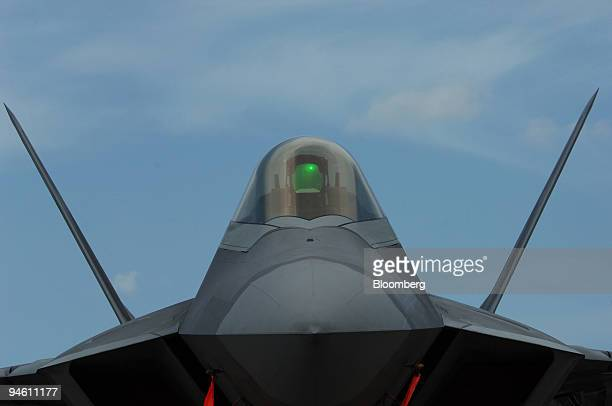 An F/A22 Raptor stealth fighter is shown shortly after its arrival at Opalocka Florida Thursday May 3 2007 The plane was one of the star attractions...