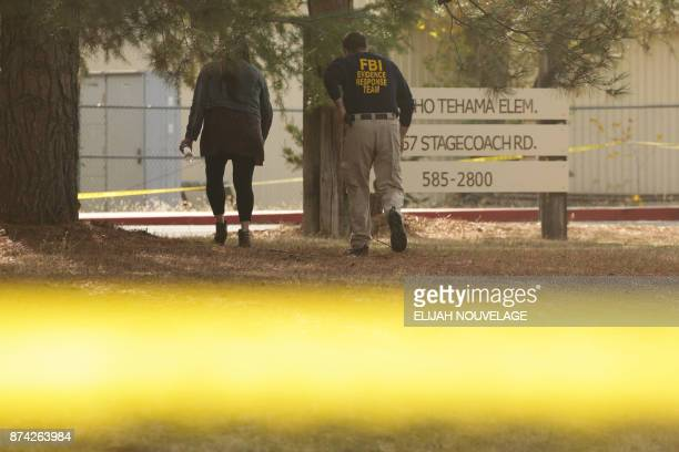 An FBI agent is seen outside Rancho Tehama Elementary School after a shooting in the morning on November 14 in Rancho Tehama California Four people...