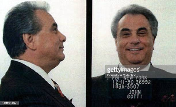 An FBI mug shot of mafia Don John Gotti released on December 11 1990 in New York City New York