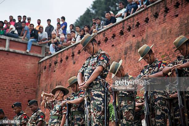 An former high ranking officer of the Nepalese army is cremated according to Hindu tradition in the Pashupatinath Temple complex His regiment is...