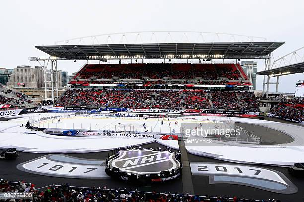 An general view of the 2017 Rogers NHL Centennial Classic Alumni Game played between the Toronto Maple Leafs alumni and the Detroit Red Wings alumni...