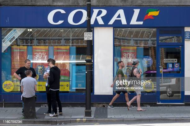 An general view of the exterior of a Coral bookmakers on July 7, 2019 in Cardiff, United Kingdom.