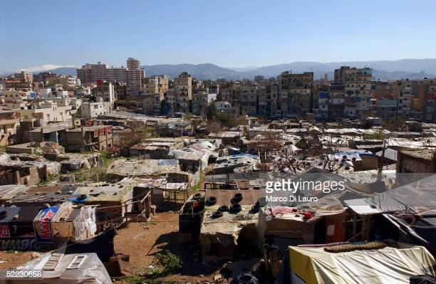 An general view of the Palestinian refugee camp of Sabra is seen in this picture on February 22 in Beirut Lebanon There are around 368000 registered...