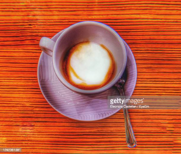 an healthy italian espresso with some milk - treviso italy stock pictures, royalty-free photos & images