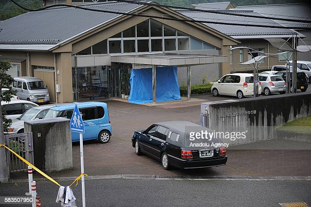 An hearse arrives on the site where Satoshi Uematsu killed 19 and wounding 25 in knife attack in a residential care for people with disabilities on...
