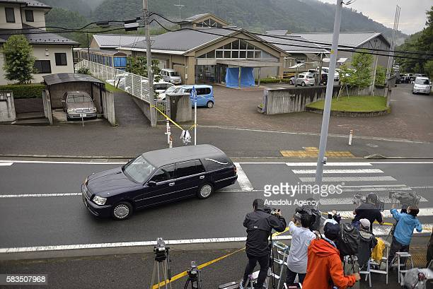 An hearse leaves the site where Satoshi Uematsu killed 19 and wounding 25 in knife attack in a residential care for people with disabilities on July...
