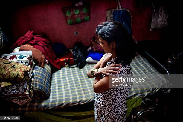 An HIV infected sex worker inside a room in a brothel in the city of Nashik The women who work in this brothel may have between 20 to 50 customers...