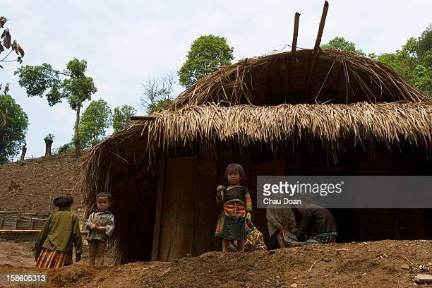 An H'mong ethnic family at their house in Hong Ngai district Son La province Son La is one of the six provinces in the northwest Vietnam that...