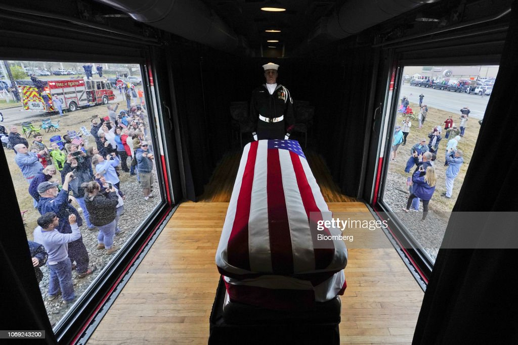 Funeral Service Held For Former U.S. President George H.W. Bush : ニュース写真