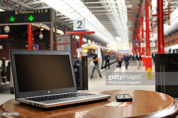 An HP Probook laptop at Marylebone Station London August 26 2011