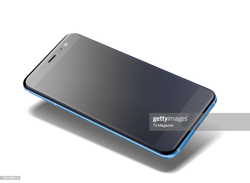 An HTC U11 smartphone with a Blue finish, taken on June 7, 2017.