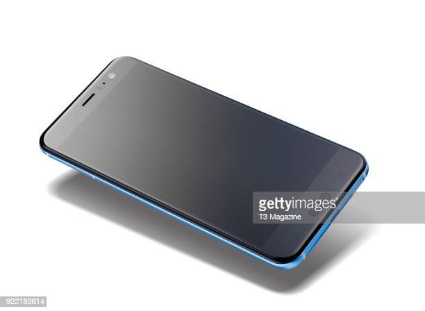An HTC U11 smartphone with a Blue finish taken on June 7 2017