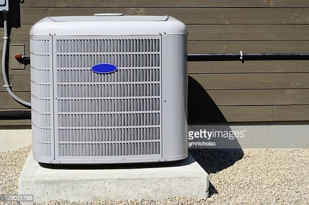 An HVAC on the exterior of a building