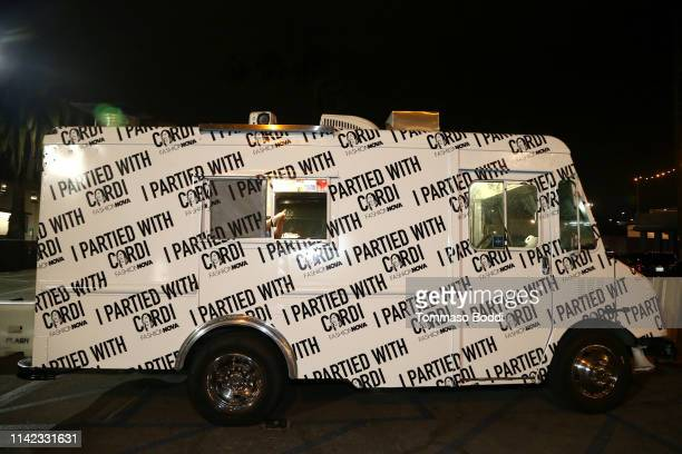 An ice cream truck is seen as Fashion Nova Presents Party With Cardi at Hollywood Palladium on May 9 2019 in Los Angeles California