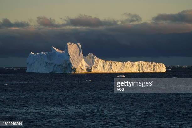 An iceberg is seen on ocean on December 14, 2019 in Antarctica.