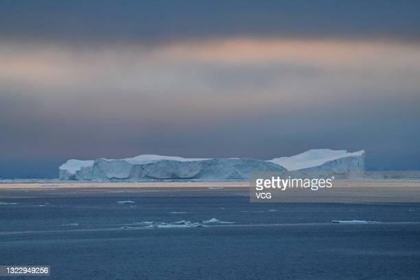 An iceberg is seen on ocean on December 17, 2019 in Antarctica.