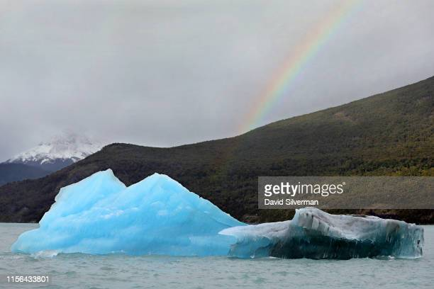 An iceberg that broke away from the Upsala glacier, part of the Southern Patagonian Ice Field, is seen floating in Lake Argentina from a tourist boat...