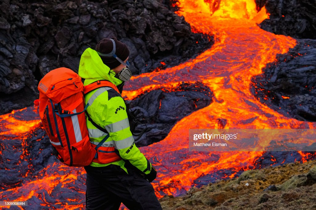 Iceland: Volcanic Eruption Continues In Fagradalsfjall : News Photo