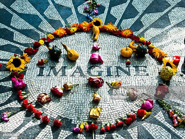 An iconic symbol in central Park to commemorate what would have been John Lennon's 45th birthday. The project was underwritten by Mayor Ed Koch and...
