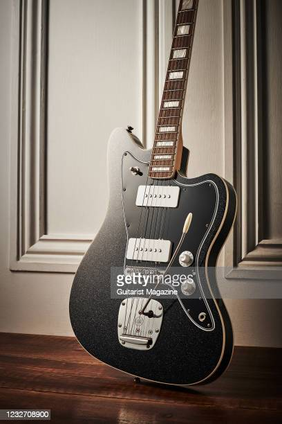 An Iconic Vintage JM Elegante electric guitar with a Starry Night finish, taken on September 1, 2020.
