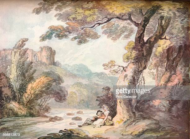 An Idyll circa 1815 From The Connoisseur Volume 101 [The Connoisseur Ltd London 1938] Artist Thomas Rowlandson