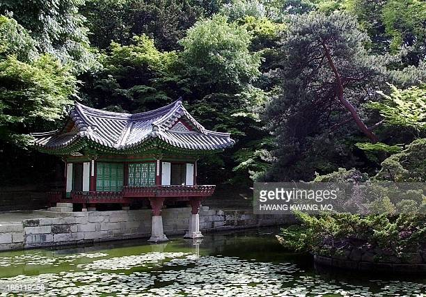 An idyllic scene of one of the rear gardens in Changdeokgung Palace in Seoul 11 May 2001 Seoul is one of the cities in South Korea which will host...