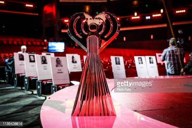 An iHeartRadio Award is seen during the Press Junket for the 2019 iHeartRadio Music Awards Airing Live on FOX Thursday March 14 2019 at Microsoft...