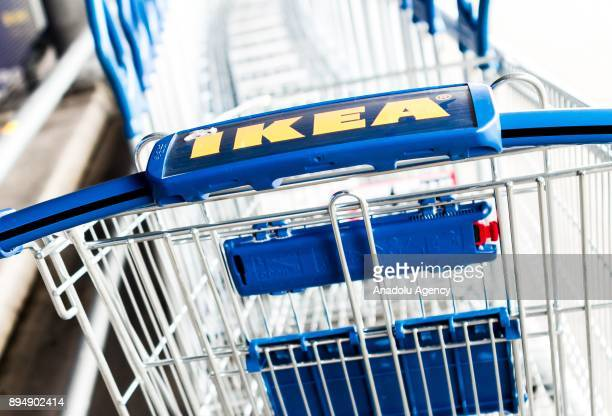 An IKEA logo is seen on a shopping cart at IKEA store in Amsterdam Netherlands on December 18 2017 The European Commission is to open an indepth...