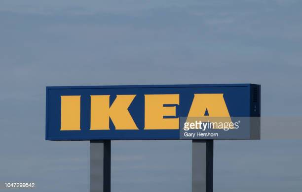 An Ikea sign stands outside their store next to the New Jersey Turnpike on September 30 2018 in Elizabeth New Jersey