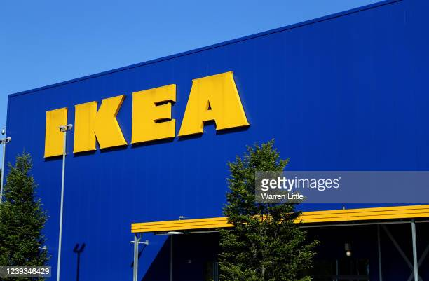 An Ikea store is pictured as customers await opening on June 01, 2020 in Reading, United Kingdom. The furniture and housewares chain reopened its...