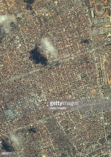 An Ikonos satellite image of Mogadishu Somalia taken August 15 2001 is shown Columbia Pictures will release a new film named ''Black Hawk Down Leave...