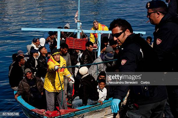 An Illegal boat transporting nearly 140 immigrants approaches the Island of Lampedusa Despite the efforts of italian government who evacuated more...