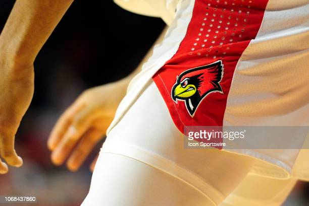 An Illinois State Redbirds logo is displayed on the shorts of a player during the college basketball game between the Brigham Young Cougars and the...