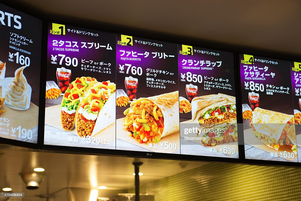 It is an image of Playful Taco Bell Printable Menu